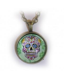 Green skull amulet