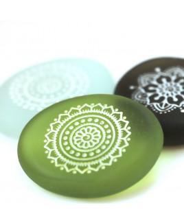 Mandala glas steen