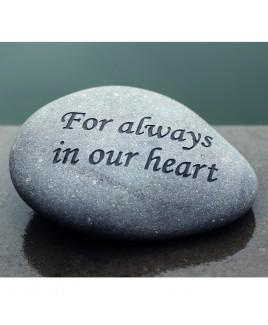 Gravure steen For always