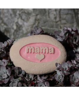 Mama embossing roze