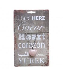 Hart hanger rozenkwarts
