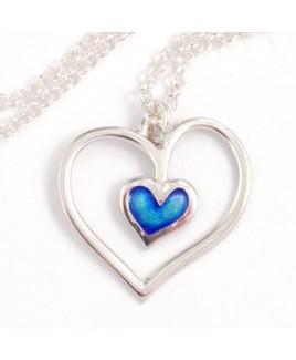 Hanger blauw hart
