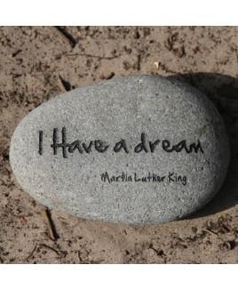 Tekststeen I have a dream