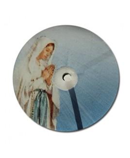 Maria blauw waxinelicht
