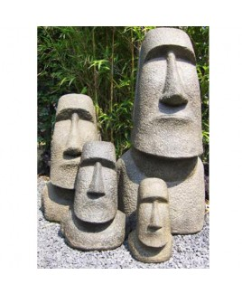 Moai beeld edel gietsteen