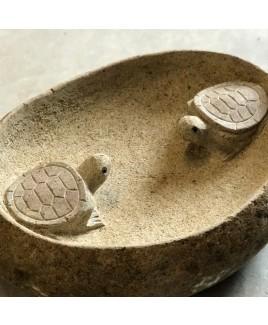 Vogelbad schildpadden