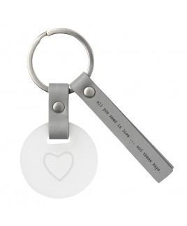Sleutelhanger love glas