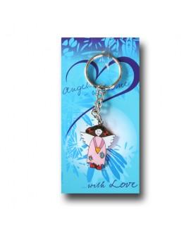 Sleutelhanger engel blauw