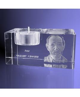 Waxinelichthouder met foto 3D