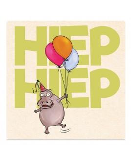 Wenskaart Happy Hippo