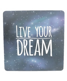 Live your dream - Happy - Wenskaart