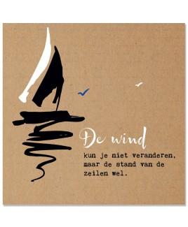 Wenskaart de wind