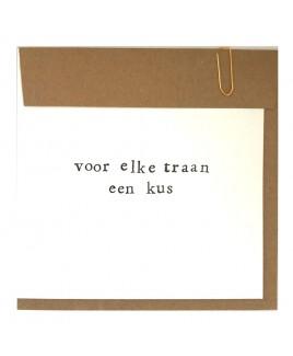 Elke traan een kus - troostkaart