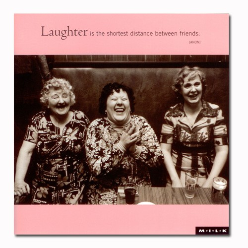 Laughter is the shortest distance between friends.