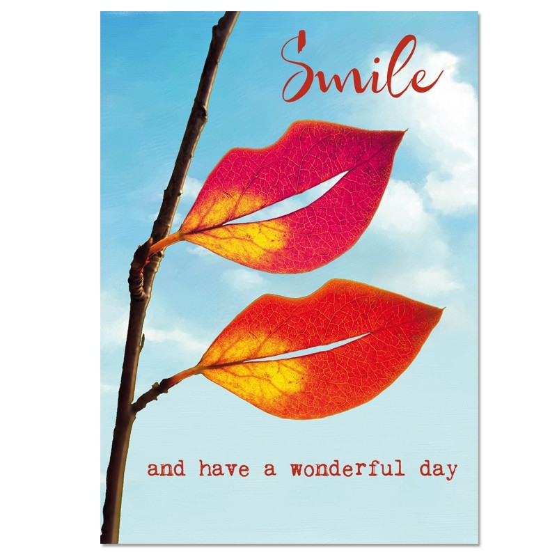 Postkaart; Smile and have a wonderful day