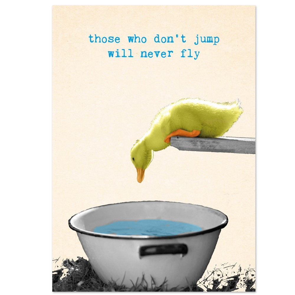 Postkaart jump and fly